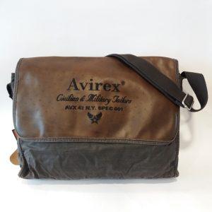 AVIREX SPALLACCIO IN CANVAS E PELLE BROWN AVX DDY F07