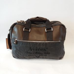 AVIREX REPORTER / BACKPACK IN CANVAS E PELLE BROWN AVX DDY F09 A